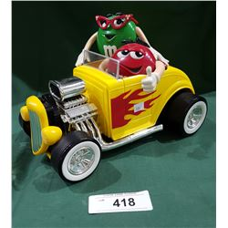 COLLECTIBLE M&M'S HOT ROD DISPENSER