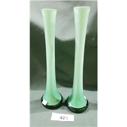 PAIR CASED ART GLASS BUD VASES