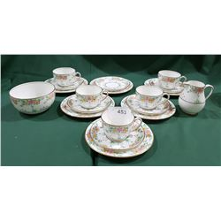 19 PCS WEDGWOOD HAND PAINTED CHINA