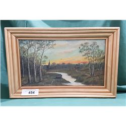 VINTAGE OIL ON BOARD SIGNED S. LAPOINTE