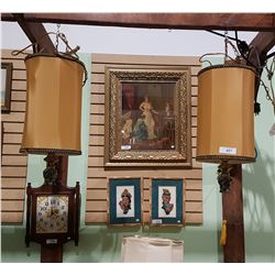 PAIR VINTAGE HANGING LAMPS