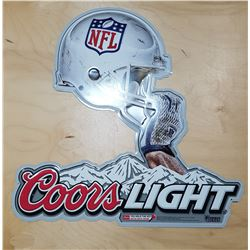ORIGINAL COORS LIGHT NFL TIN BEER SIGN