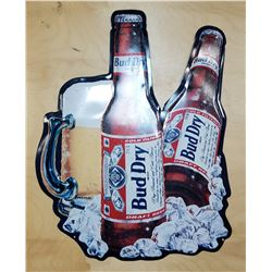 ORIGINAL BUD LIGHT TIN BEER SIGN