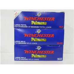 WINCHESTER LARGE PISTOL AND LARGE RIFLE PRIMERS