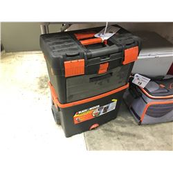 BLACK AND DECKER COMBINATION TOOL CART WITH CONTENTS