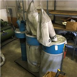 MAGNUM DC34B 3500 RPM TWIN BAG DUST COLLECTOR WITH FAN