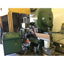 L & J MODEL 60, S/N 56649A 60 TON VARIABLE SPEED STAMPER WITH CONTROL PANEL, 12'' X 12'' ROLL FEED,
