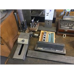 LOT OF MACHINE SETUP TOOLS