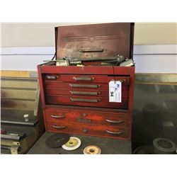 2 RED DOOR TOOL BOXES WITH CONTENTS