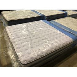KING SIZED SERTA MATTRESS WITH BOX SPRING