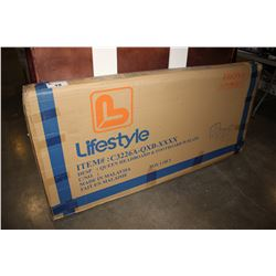 LIFESTYLE QUEEN WHITE BED FRAME - IN BOX