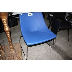 BLUE MODERN MILANI OCCASIONAL CHAIR