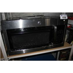 GE STAINLESS STEEL OVER RANGE MICROWAVE - MISSING FRONT GLASS