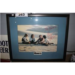 """FRAMED """"THE DOORS"""" PHOTOGRAPH SIGNED BY DIRECTOR OLIVER STONE"""
