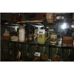 COLLECTION OF JIM BEAM VINTAGE CUPS AND WHISKEY BOTTLES