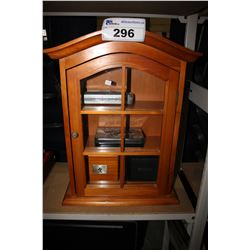 WOODEN WALL MOUNT DISPLAY CABINET AND MORE
