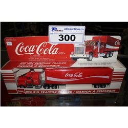 COCA COLA DIE CAST METAL BIG RIG TRACTOR TRAILER