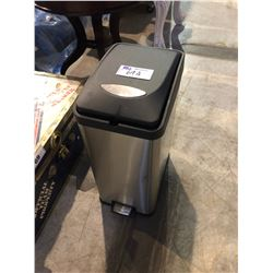 STAINLESS STEEL PEDAL LIFT GARBAGE CAN
