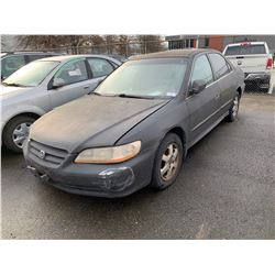 2001 HONDA ACCORD, 4DR SEDAN, BLACK, VIN # 1HGCG56451A805358