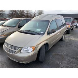 2005 DODGE GRAND CARAVAN EXECUTIVE, 4DR VAN, BROWN, VIN # 2D4GP44L35R596436