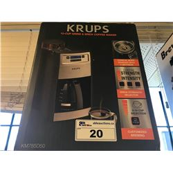 KRUPS 1-CUP GRIND & BREW COFFEE MAKER