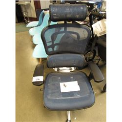 BLUE EUROTECH ERGOHUMAN HIGH BACK MESH & METAL CHAIR