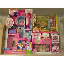 FISHERPRICE DISNEY PRINCESS TOWER, BARBIE & ANIMALS, LOL SURPRISE POP-UP-STORE