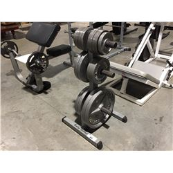 PLATE TREE WEIGHT STAND WITH 300LBS. WEIGHTS