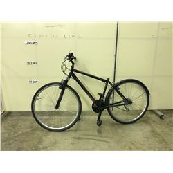 BLACK SUPERCYCLE SOLARIS 18 SPEED, FRONT SUSPENSION ROAD BIKE
