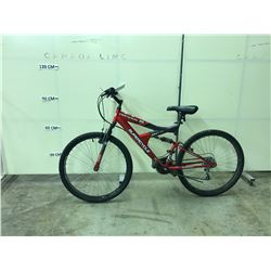 RED SUPERCYCLE NITROUS 2G 21 SPEED FULL SUSPENSION MOUNTAIN BIKE