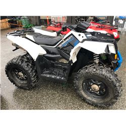 2016 POLARIS SCRAMBLER 850, WHITE, GAS, AUTOMATIC, VIN#4XASVA852GA270276, 462KMS, HAS BC