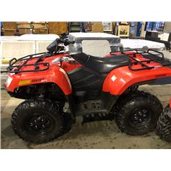 2014 ARCTIC CAT 500, RED, GAS, AUTOMATIC, VIN#RUF14ATV0ET205757, 706KMS, 64HOURS, 4W, HAS BC
