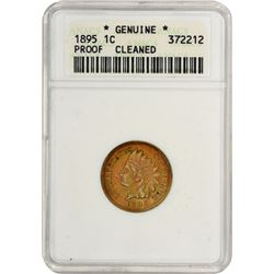 1895 Indian 1¢. Proof-Genuine ANACS.