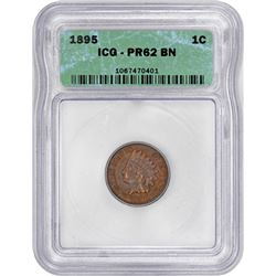 1895 Indian 1¢. Proof-62 BN ICG.