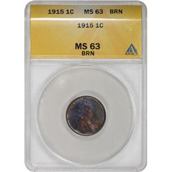 1915 Lincoln 1¢. MS-63 BN ANACS.