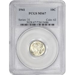 1941 Mercury 10¢. MS-67 PCGS.