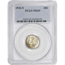 1941-S Mercury 10¢. MS-65 PCGS.