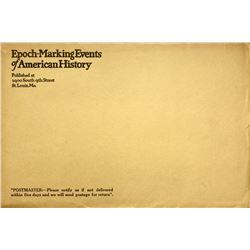 1914 Anheuser-Busch Book, Epoch Marking Events of American History in Original Envelope.