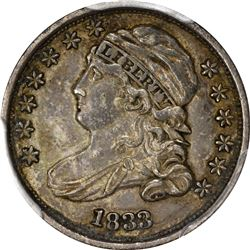 1833 Capped Bust 10¢. JR-9. Rarity-2. EF-45 PCGS.