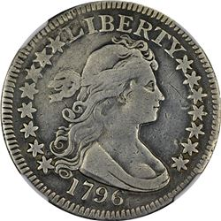 VF Details 1796 Quarter. 1796 Draped Bust 25¢. B-2. Rarity-3. Genuine - Plugged, Whizzed - VF Detail