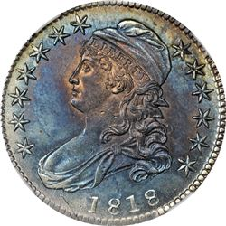1818 Capped Bust 50¢. O-104a. Rarity-3. MS-61 NGC.