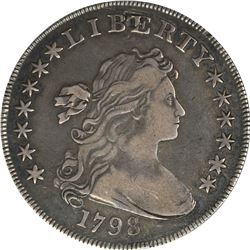 1798 Heraldic or Large Eagle $1. B-24, BB-124. Rarity-3. Genuine - Plugged - VF Details ANACS.