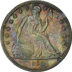 Choice Mint State 1859-S Liberty Seated Dollar Probable Condition Census. 1859-S Seated Liberty $1.