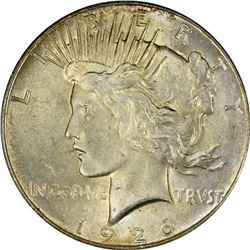 1926 Peace $1. MS-65 PCGS. CAC.