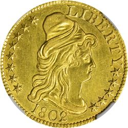 Uncirculated Details 1802/1 $5. 1802/1 Gold $5. BD-8. Rarity-4. Genuine - Improperly Cleaned - Uncir