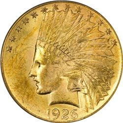 1926 Gold Indian $10. MS-63 PCGS.