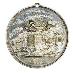 Rare 1873 Silver Chicago Fire Medal Dies by William Barber. Illinois. Chicago. 1873 Chicago Fire. Se