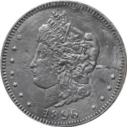 1896 Bryan Money. 16 to 1 – NIT. Zerbe 62. Lead. 89 mm. Overall VF, cleaned and flawed.