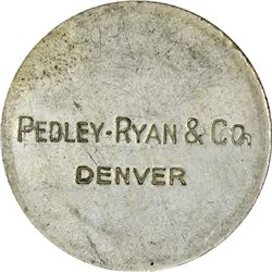 1933 Pedley-Ryan. Pair of Silver Pieces. 430.0 grains. 38.0 mm. AU.