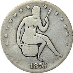 1876-S Potty Half Dollar. VG.